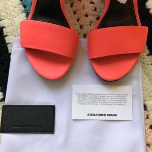 12c2f613850 Alexander Wang Shoes - ALEXANDER WANG Abby Neon Pink Cut Out sandals
